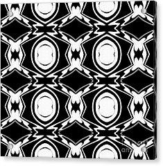 Black And White Pattern Art No.34 Acrylic Print by Drinka Mercep