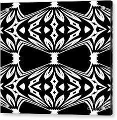 Black And White Pattern No.265 Acrylic Print by Drinka Mercep