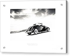 Black And White Salt Metal Acrylic Print by Holly Martin