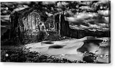 Black And White Sands At Monument Valley Acrylic Print
