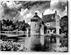 Scotney Castle In Mono Acrylic Print