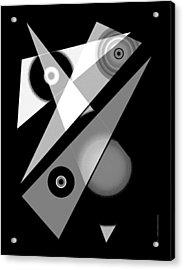 Black And White Shapes Art Acrylic Print by Mario Perez