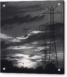 Black And White Skies Acrylic Print