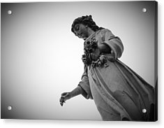 Black And White Statue Acrylic Print