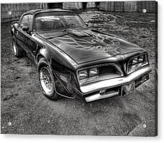 Black And White Trans Am Acrylic Print