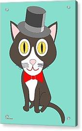Black And White Tuxedo Cat Acrylic Print