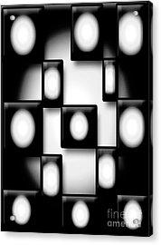 Black And White Unite  Acrylic Print