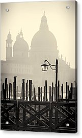 Black And White View Of Venice Acrylic Print