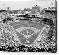 Black And White Yankee Stadium Acrylic Print