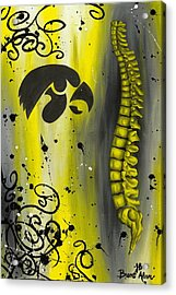 Black And Yellow Acrylic Print by Brent Buss
