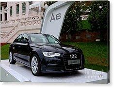 Black Audi A6 Classic Saloon Car Acrylic Print