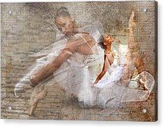 Black Ballerina Acrylic Print by Lynda Payton