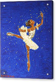 Black Ballerina Acrylic Print by Stormm Bradshaw