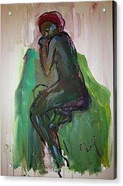 Tania Dreaming Acrylic Print by Elaine Schloss