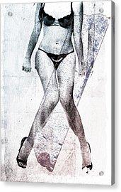 Black Bikini Acrylic Print by David Ridley