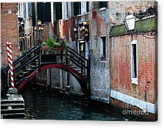 Black Bridge Acrylic Print by Jacqueline M Lewis