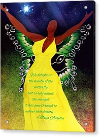 Black Butterfly - Tribute To Maya Angelou Acrylic Print