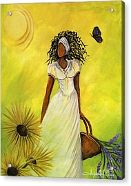 Black Butterfly Acrylic Print by Sonja Griffin Evans