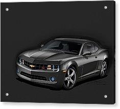 Black Camaro Acrylic Print