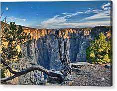 Black Canyon Fading Light Acrylic Print by Eric Rundle