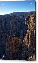 Acrylic Print featuring the photograph Black Canyon Into The Deep Hdr by Eric Rundle
