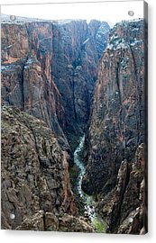Black Canyon The River  Acrylic Print by Eric Rundle