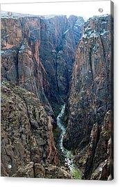 Black Canyon The River  Acrylic Print
