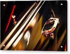 Black Chevelle Door Handle Acrylic Print by Shanna Gillette