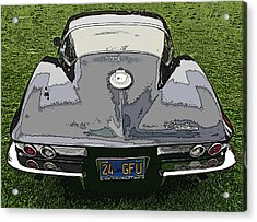 Black Chevy Corvette Stingray Acrylic Print