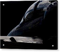 Black Cockpit Acrylic Print by Paul Job