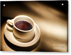Black Coffee Acrylic Print by Olivier Le Queinec