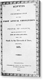 Black Convention, 1831 Acrylic Print