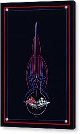 Black Corvette Acrylic Print