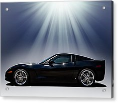 Black Corvette Acrylic Print by Douglas Pittman