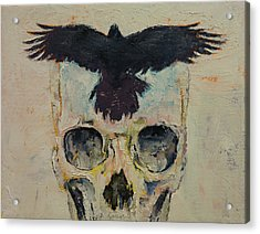 Black Crow Acrylic Print by Michael Creese