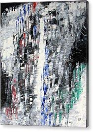 Black Crystal Cave - Black White Abstract By Chakramoon Acrylic Print by Belinda Capol