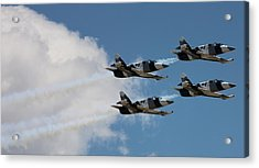 Black Diamond L-39s In Flight Acrylic Print