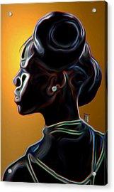 Black Diamonds And Pearls Acrylic Print by  Fli Art