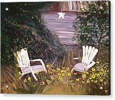 Black-eyed Susans Acrylic Print by Hollie Ward