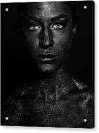 Black Face Acrylic Print