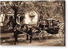 Black Family In Buggy Acrylic Print by Paul W Faust -  Impressions of Light