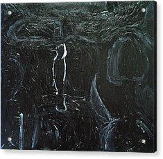 Black Figures In The Room Acrylic Print by Kazuya Akimoto