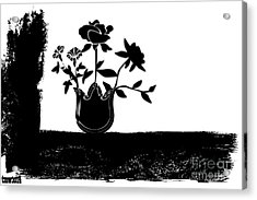 Black Flowers Acrylic Print by Tina M Wenger