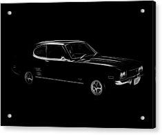 Black Ford Capri Acrylic Print by Steve K