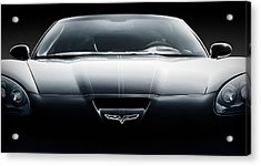 Black Grand Sport Corvette Acrylic Print