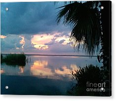 Black Hammock Sunset 3 Acrylic Print