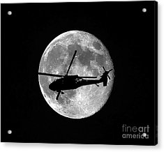 Black Hawk Moon Acrylic Print