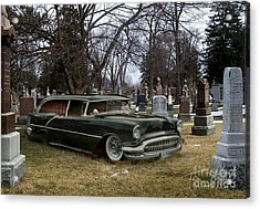 Black Hearse Acrylic Print by Tom Straub
