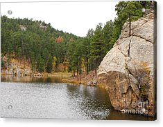 Black Hills Lake Acrylic Print by Mary Carol Story