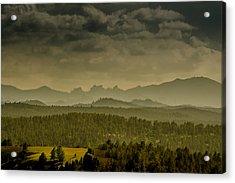 Black Hills Layers Acrylic Print